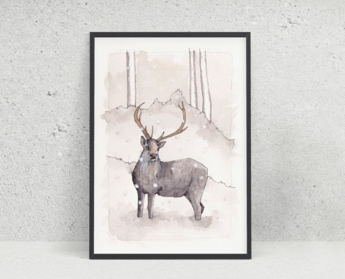 The deer and the snow